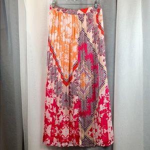 New Chico's Pleated Maxi Skirt Sz0 (2-4US) Mixed